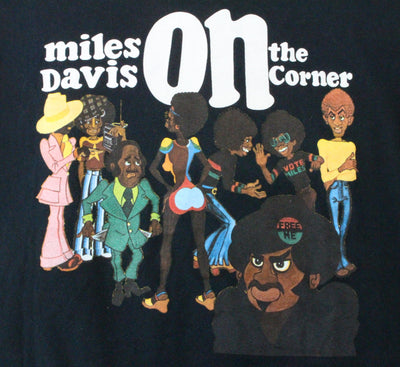 Supreme x Miles Davis On The Corner Tee Black - SaruGeneral