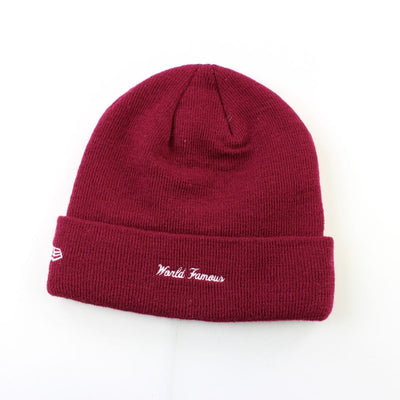 Supreme x New Era Burgundy Box Logo Beanie - SaruGeneral