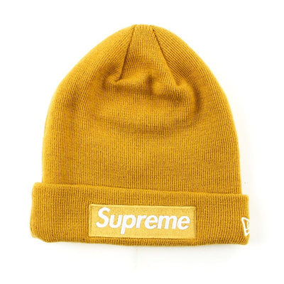 Supreme x New Era Gold Beanie - SaruGeneral