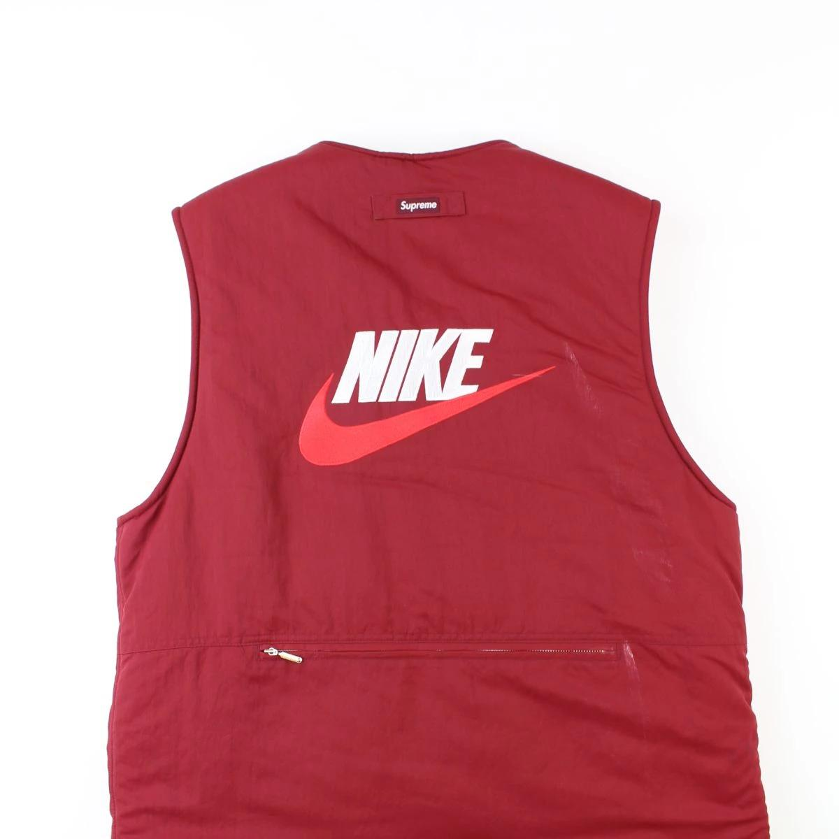 Supreme x Nike Versible Fleece Vest Red - SaruGeneral