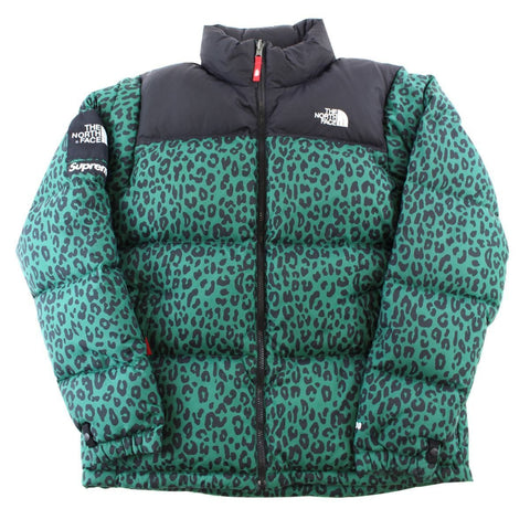 Supreme x TNF Green Leopard Nupste Jacket