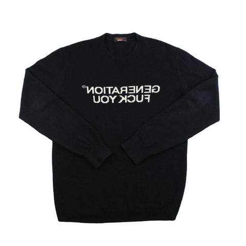 Supreme x Undercover Generation F*ck You Sweatshirt Black - SaruGeneral