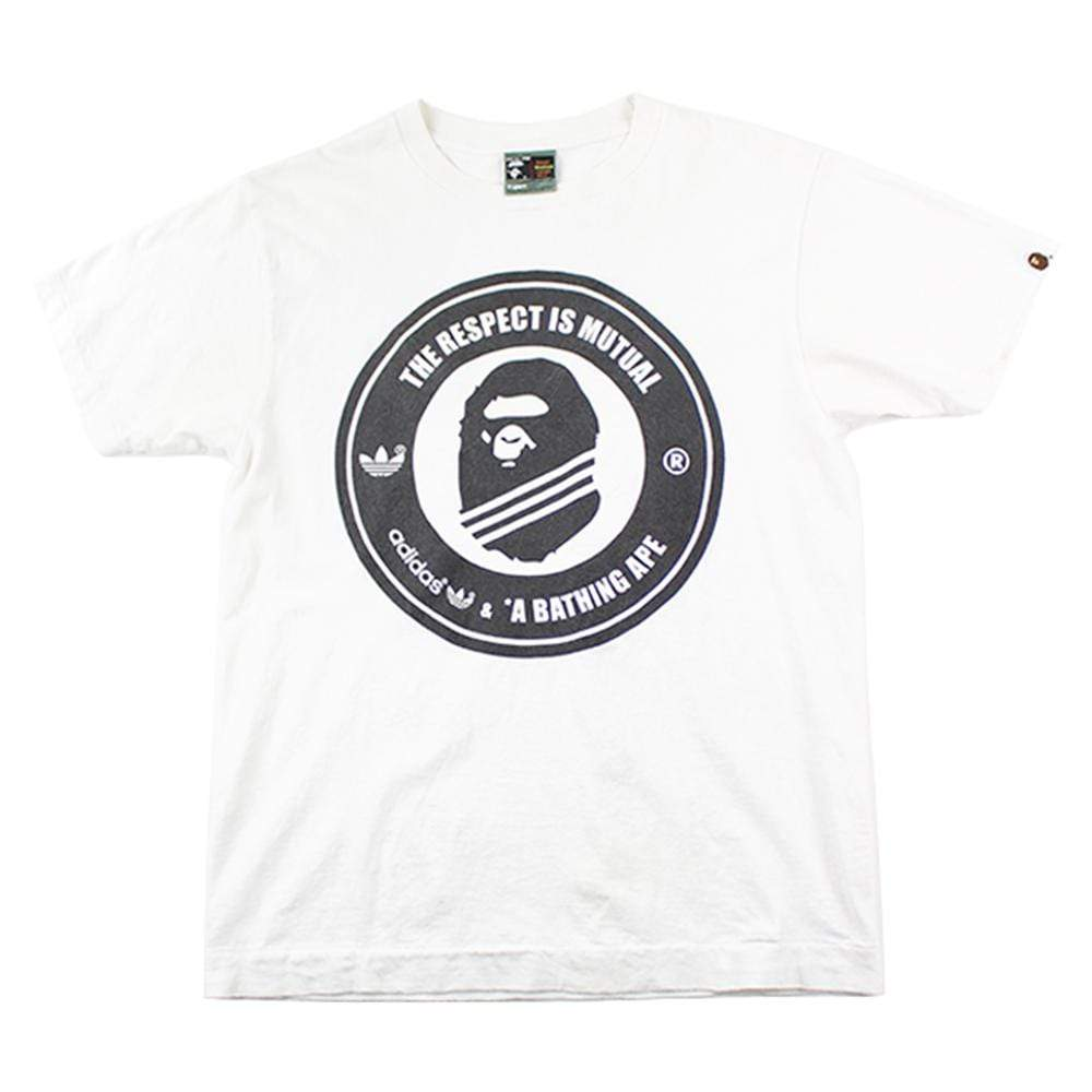 Bape x Adidas The Respect is Mutual Tee White - SaruGeneral