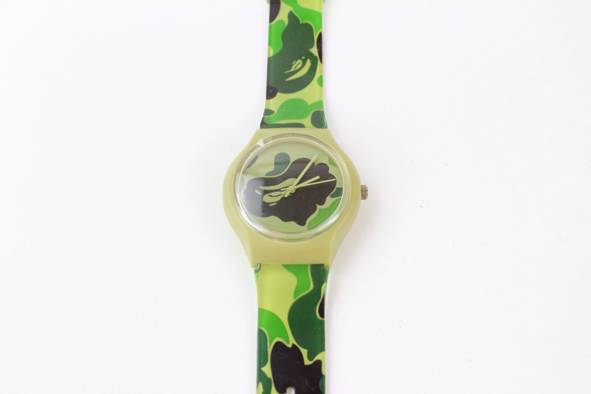bape abc green camo watch - SaruGeneral