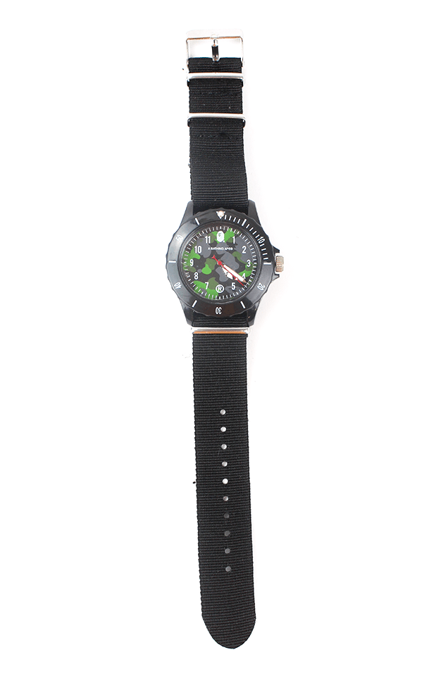 bape green black camo watch - SaruGeneral