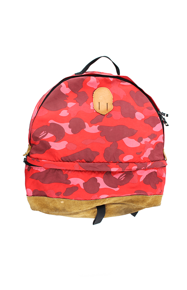 bape red camo backpack - SaruGeneral