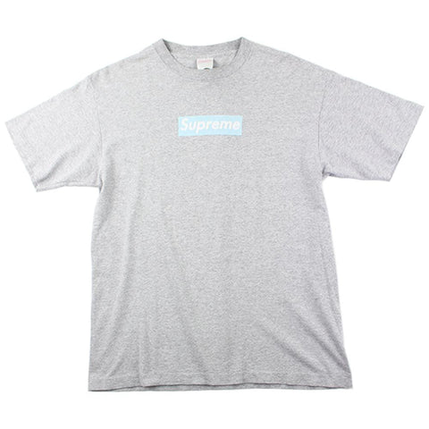 Supreme Light Blue Box Logo Tee Grey - SaruGeneral