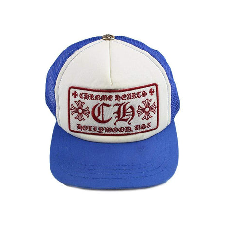 Chrome Hearts Hollywood Trucker Cap Blue - SaruGeneral