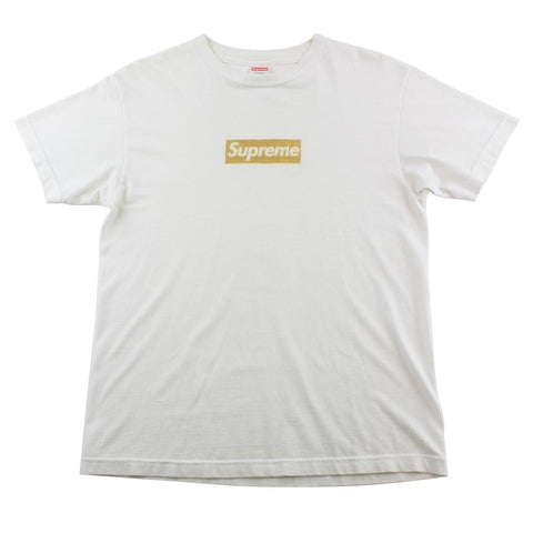 Supreme Nagoya Gold Foil Box Logo Tee White