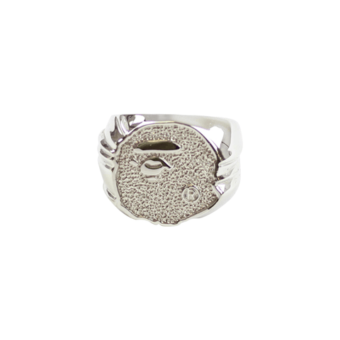 Bape Ape Head Diamond Ring Silver - SaruGeneral