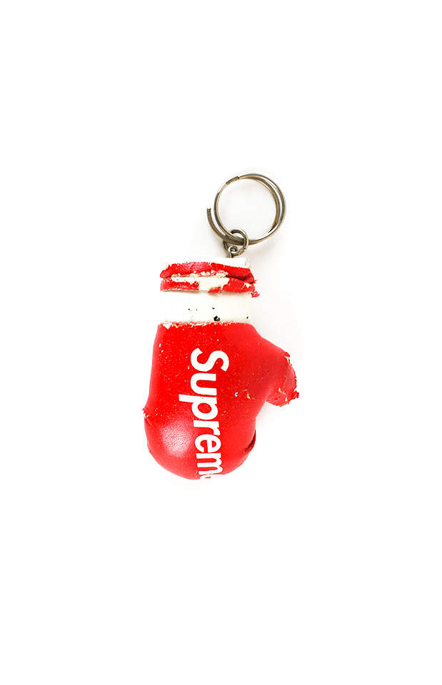 supreme boxing glove keychain red