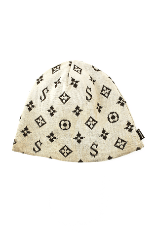 supreme x louis vuitton monogram beanie cream - SaruGeneral