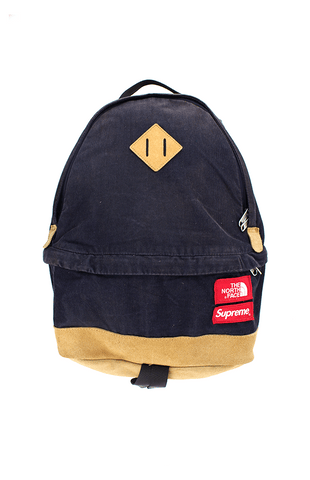 supreme x the north face corduroy backpack navy - SaruGeneral