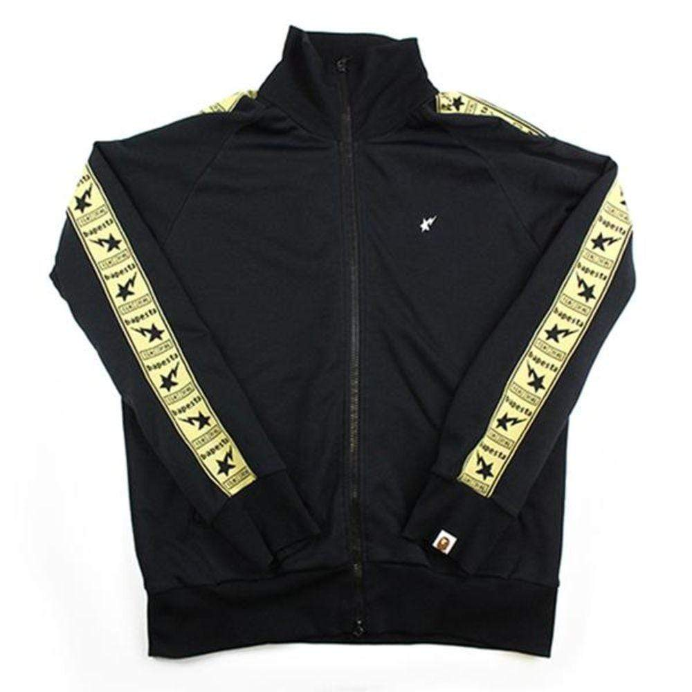 Bapesta Strip Zip Up Jacket Black