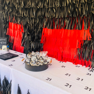 Black Custom Number Birthday Confetti