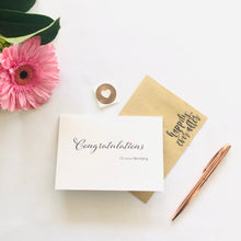 Load image into Gallery viewer, Congratulations on your Wedding Day Card