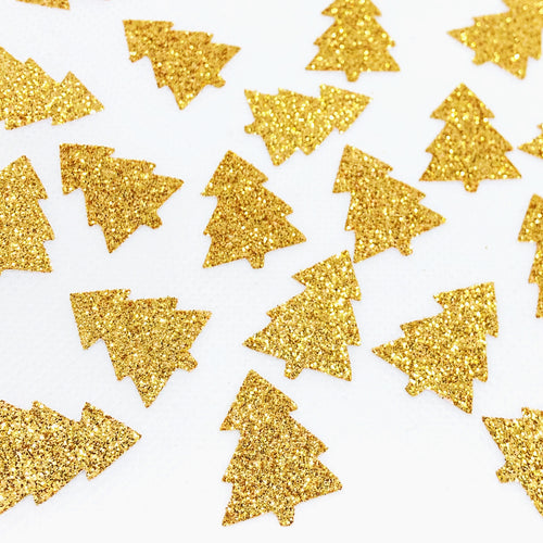 Gold Glitter Tree Confetti