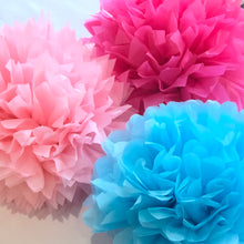Load image into Gallery viewer, Bright Tissue Paper Pom Pom Set