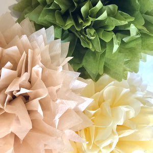 Nature Inspired Tissue Paper Pom Pom Sets