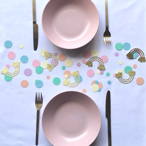 Pastel Rainbow Confetti, Table Scatters, Table Sprinkles