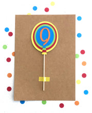 Load image into Gallery viewer, Coloured Rainbow Balloon Custom Cake Topper Pick