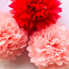 Load image into Gallery viewer, Valentines Day Tissue Paper Pom Pom Set