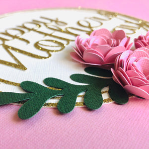 Happy Mothers Day Flower Cake Topper