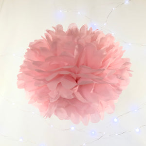 Pastel Blue, Pink & Cream Tissue Paper Pom Pom Set