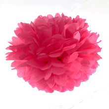 Load image into Gallery viewer, Candy Pink Tissue Paper Pom Pom