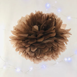 Chocolate Brown Tissue Paper Pom Pom