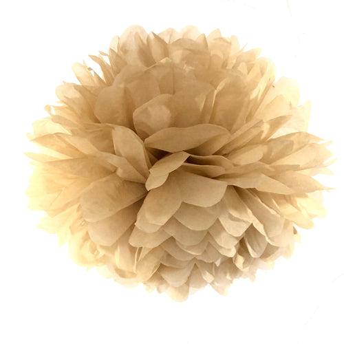 Light Brown Coffee Tissue Paper Pom Pom