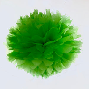 Lime Green Tissue Paper Pom Pom