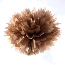 Load image into Gallery viewer, Chocolate Brown Tissue Paper Pom Pom