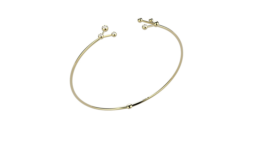 Bent Open Diamond Choker