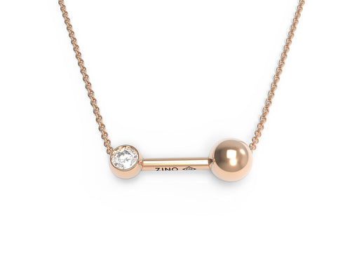 Dual Sphere And Diamond Necklace