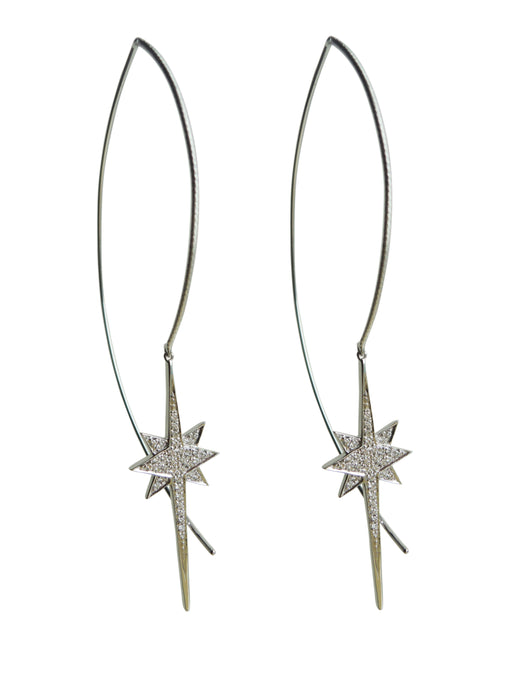 Single Floating Star Diamond Earring