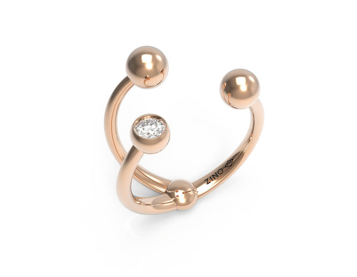 Twisted Sphere Open Ring II