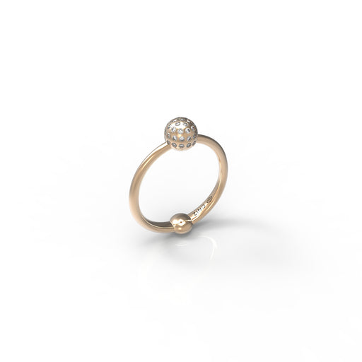 Classic Sphere Pave Diamond Ring
