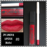 2pc lip liner & liquid lipstick - RED