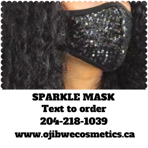 Black Facial Mask Sequin