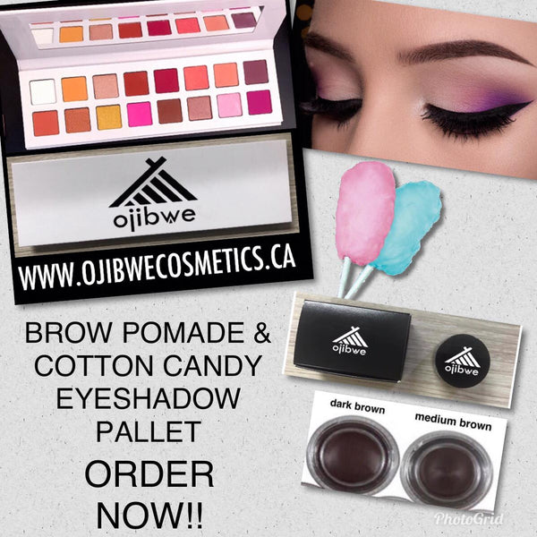 16 eye shadow pallet with brow pomade