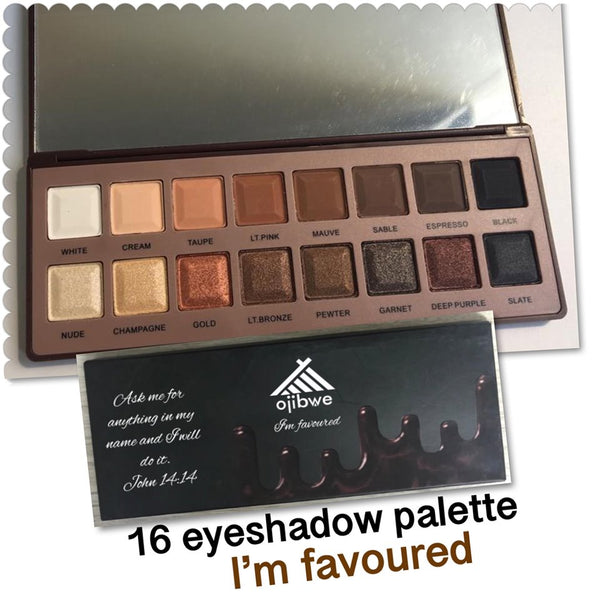16 pan eyeshadow palette - favoured