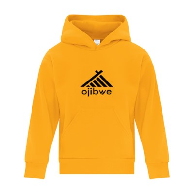 OJIBWE black or gold yellow hoodie