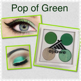 4 pan eyeshadow palette - pop of green