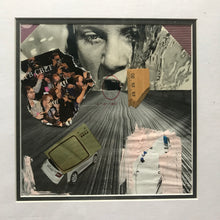 "Load image into Gallery viewer, Framed Original Paper Collage ""I am also a sinner consumer"""