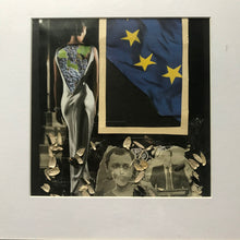 "Load image into Gallery viewer, Framed Original Paper Collage ""Moldovan European Union"""