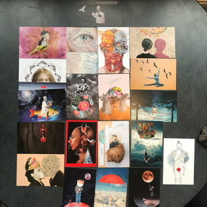 Set of 20 postcards