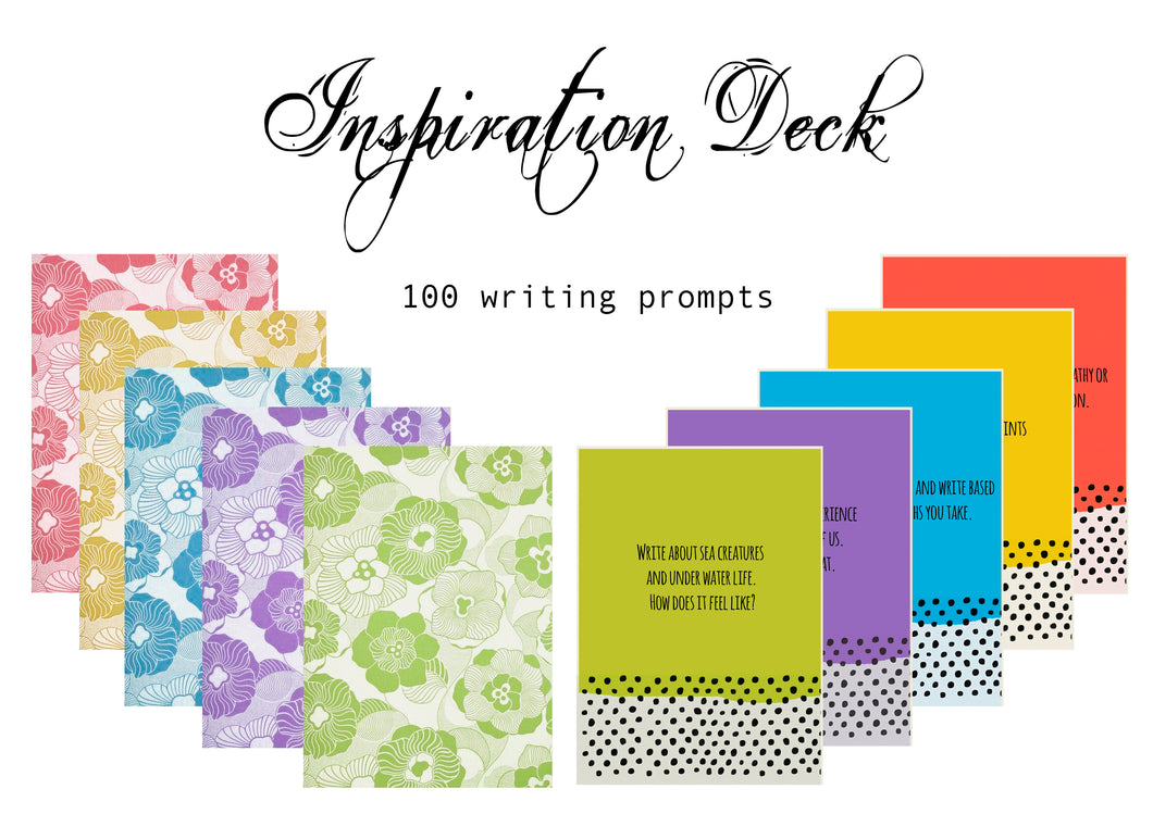 Inspiration Deck - 100 prompts for writing
