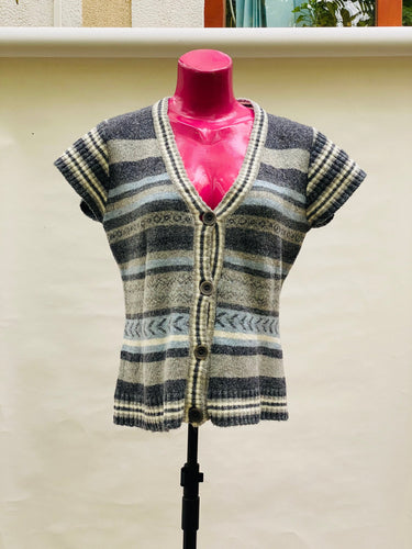 Striped warm blouse size L