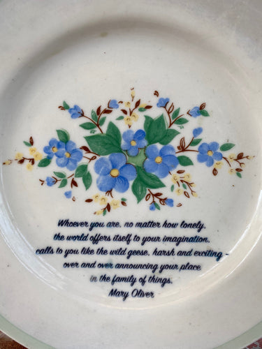 Poetry Plate - wall decor